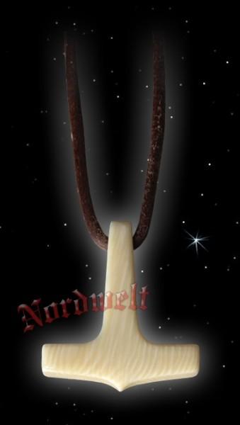 Thorhammer aus Mammutelfenbein Thors Hammer aus Mammut- Elfenbein Mjölnir