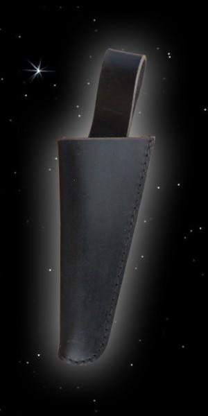 Schwarze Lederscheide für Messer