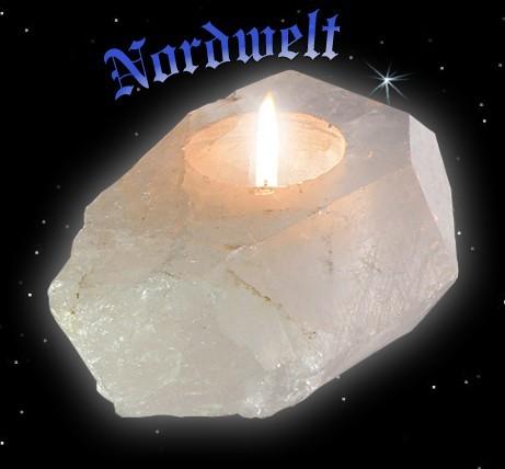 Teelichthalter Bergkristall Kerzenhalter aus Bergkristallen Naturstein