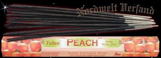 Räucherstäbchen Pfirsich Peach Tulasi Räucher-Stäbchen Räucherkegel und Räucher- Zubehör