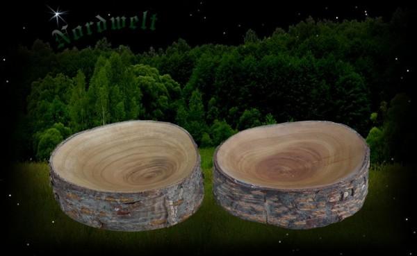 Holzschale aus Astscheibe Nostalgie Mittelalter Schale