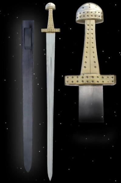 Wikingerschwert mit Lederscheide Wikinger Dekoschwert Schwert