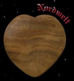 Versteinertes Herz aus Holz 1