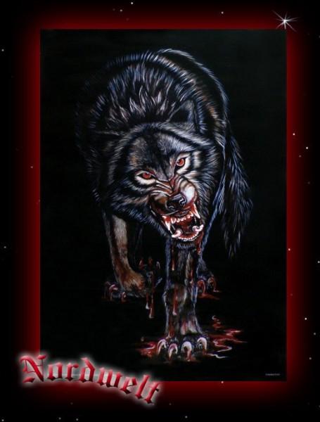 Werwolf Poster Kunstdruck Wolf schwarz