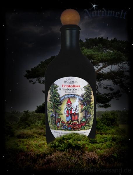 Fridolin der Kräuterzwerg Kräuterlikör 500 ml Tonflasche