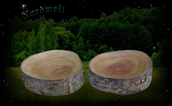 Holzschale aus Astscheibe - klein