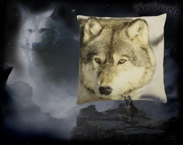 Kissenhülle Wolf Kissen Winter Wölfe