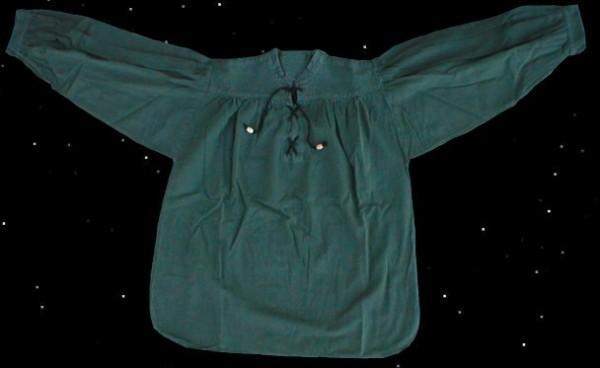 Schnürhemd grün Stehkragenhemd Mittelalter Bauernhemd Reenactment Volkstanz Schnürhemd Mittelalterhochzeit Jäger- Hemd