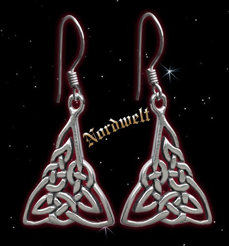 Ohranhänger Keltisch - 925er Silber, 1 Paar