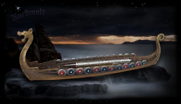 Wikingerschiff Briefbeschwerer / Schale, oder auch Rächerstäbchenhalter