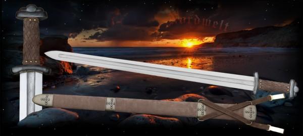 Damaszenerstahl Wikingerschwert Godfred Kampfschwert Wikingerhäuptling Schwert der Wikinger