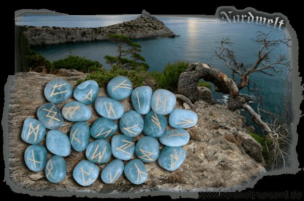 24er Futhark Runen legen Runensteine aus Aventurin