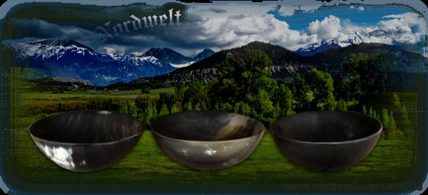 Hornschale Schalen aus echtem Horn Wikinger Mittelalter- Reenactment, LARP