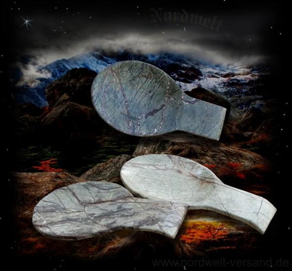 Löffelteller aus Marmor flache Schale Teller aus Mormorstein