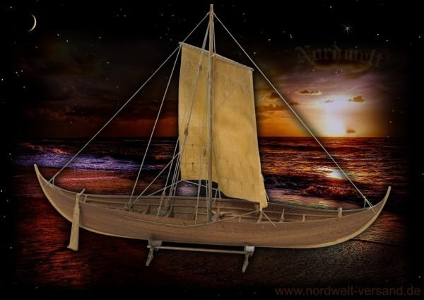 Modellbau Wikingerschiff Roar Ege im Maßstab 1:25