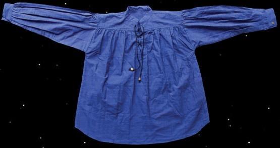 Schnürhemd, blau (Größe S)
