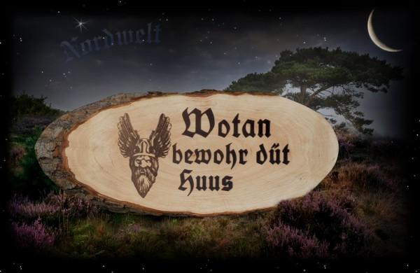 Wandbild Wotan Wandrelief Holz Wodan Göttervater Odin