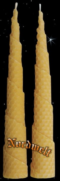 Bienenwachs- Kerze Spiralkerze Bienenwachskerze 100 % Naturkerzen