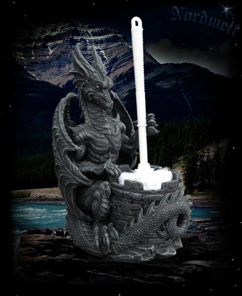 Drache mit Toilettenbürste Klobürste WC- Bürste Dragon