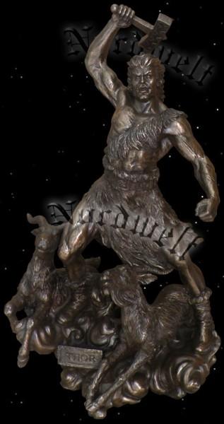 Donnergott Thor, Statue bronzefarbend