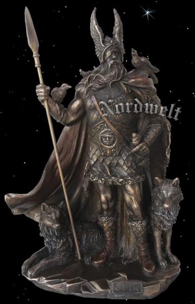 Göttervater Odin Bronzefarbend