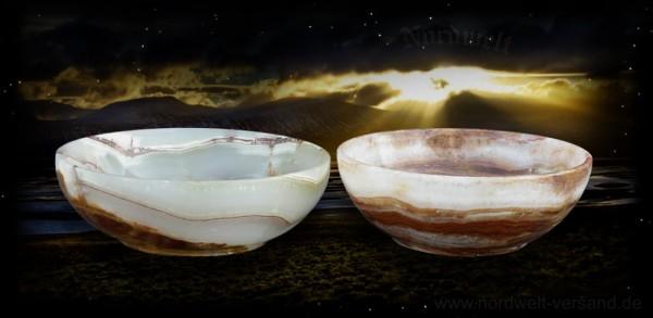 Schüssel Schale Onyx Marmor Naturstein kleine Schalen
