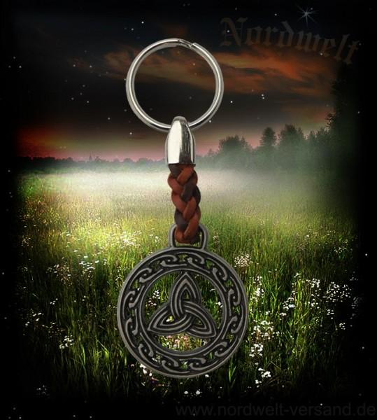 Schlüsselanhänger Triquetra Dreisamkeit- Symbol germanisch keltische Mytholgoie