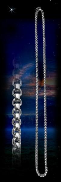 Edelstahl Erbskette, 60 cm