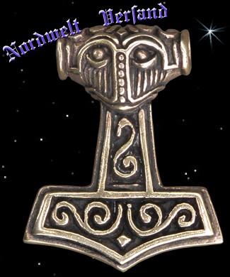 Nordmann Thorhammer Bronze Mjölnir Thors Hammer Anhänger
