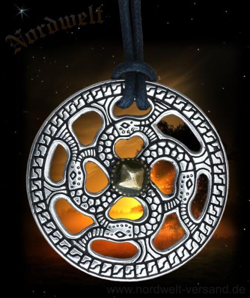 Schlangenkreuz Merowinger Sonnenrad Svastika nachempfunden aus der Alemannen-Zeit germanischer Schmuck