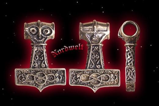 Anhänger Thors Hammer Bronze Mjölnir Thorshammer Schmuck Germanen Wikinger