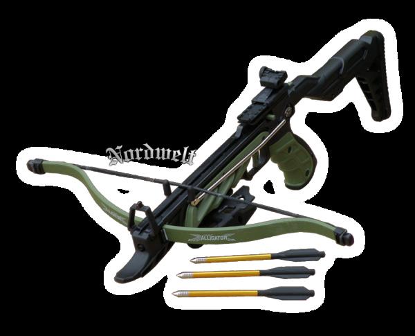 Alligator Armbrust- Pistole schwarz grün 80 lbs Armbrustpirstole