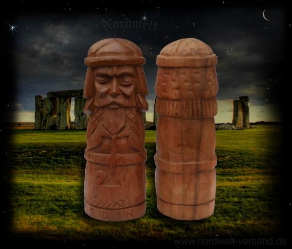 Odin Wodan Wotan Götterfigur Holz Schnitzerei Göttervater Handarbeit Volkskunst