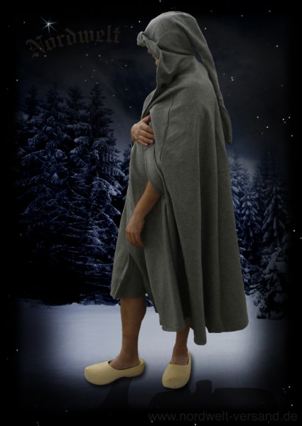Mantel Mittelalter Umhang aus Baumwolle GRAU