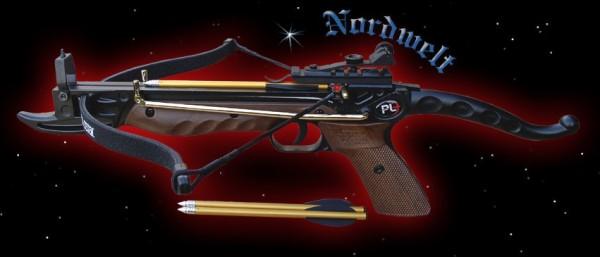 Pistolen Armbrust 80 lbs Holzoptik 62 206