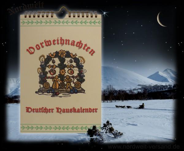 Vorweihnachten Deutscher Hauskalender für die Julzeit