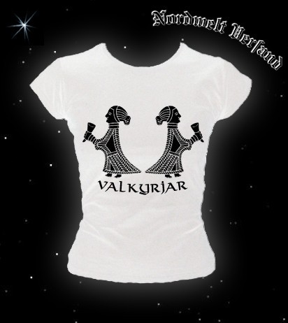 Valkyria Walküren Frauen T-Hemd T-Shirt T-Shirt Pagan heidnische Bekleidung