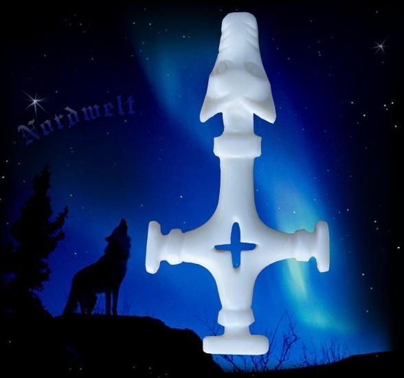 Wolfskreuz Thorhammer aus Knochen Thors Hammer Island Reenactment