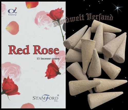 "Räucherkegel ""Rote Rose"" (Stamford)"