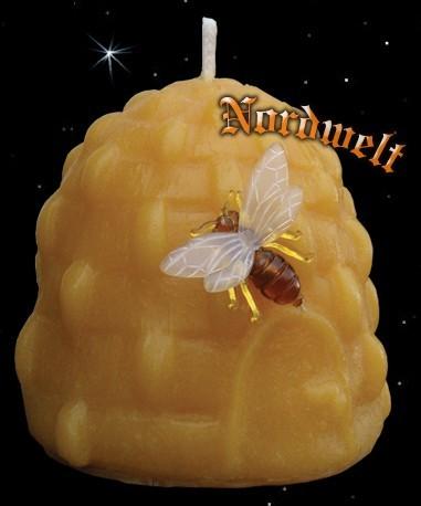 Bienenkorb Bienenwachskerze