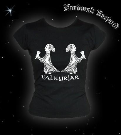 """Frauen T-Hemd """"Valkyria Walküren"""" Schwarz"""