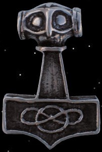 Thors-Hammer Ostergötland 925er Silber Thorhammer Mjölnir