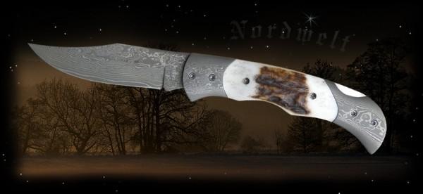 Damaszenerstahl- Messer 71 Lagen