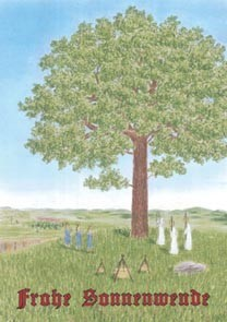 "Postkarte ""Weihe des Irminsulbaumes"""