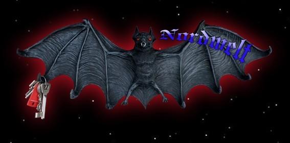 Fledermaus Schlüsselbrett Schlüsselhaken Polyresin Gothik Vampirfledermaus
