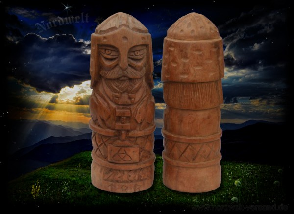 Thor Donnergott Götterfigur (Handarbeit) aus Holz