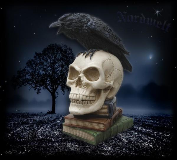 Odins Rabe Bücher Polyresin Kunststein Wodan Wotan Raben
