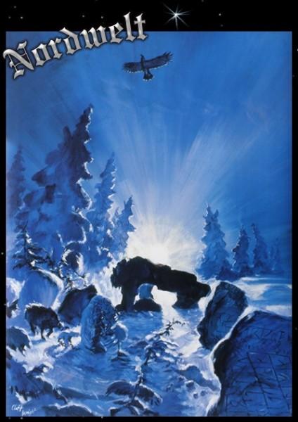 Menhir im Mondlicht Poster Kunstdruck