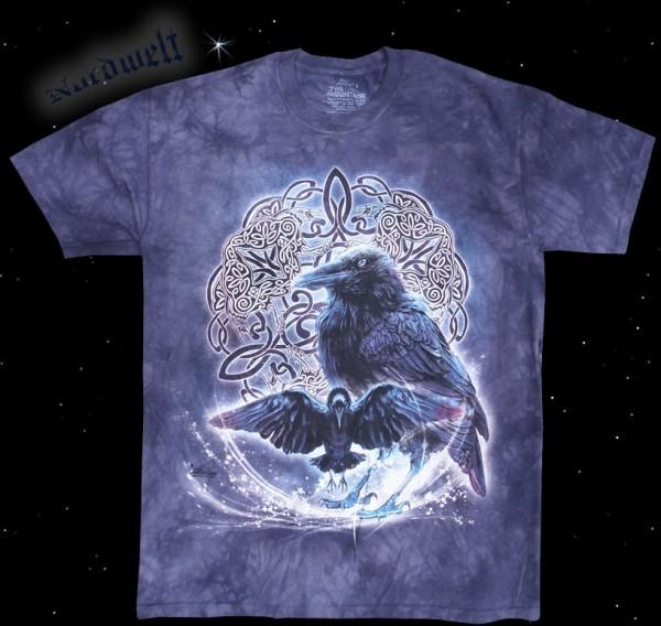 T-Hemd Odins Raben Pagan T-Shirt mit Hugin und Munin Asatru Bekleidung
