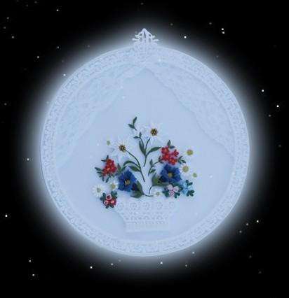 Fensterbild, bestickt mit Blumen - 2 -